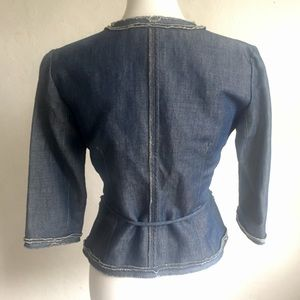 Lida Baday Jackets & Coats - Lida Baday Belted Jean Jacket 6